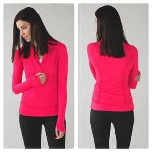 Lululemon Think Fast Pullover/ cranberry & pink/ 4